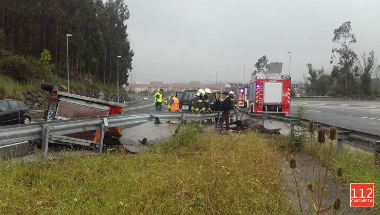 Accidente en la A-67
